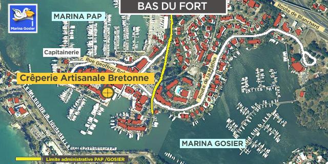 Carte situation crêperie artisanale bretonne