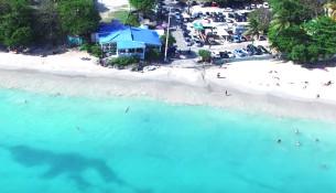 Guadeloupe   Plage de la Datcha au Gosier vu du ciel   YouTube